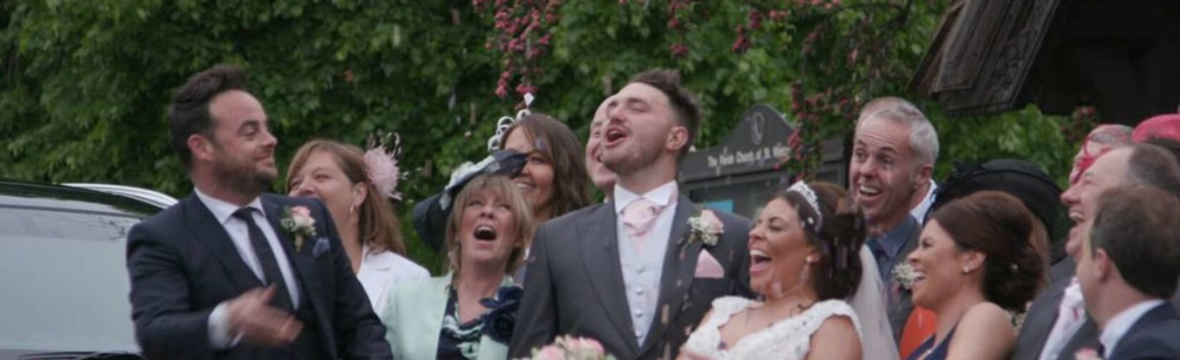 ANT and Dec get BRIDE to the Church on Time  !