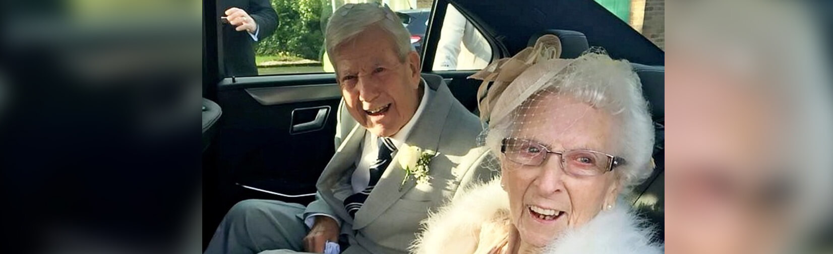 90-year-old groom marries his 96-year-old sweetheart