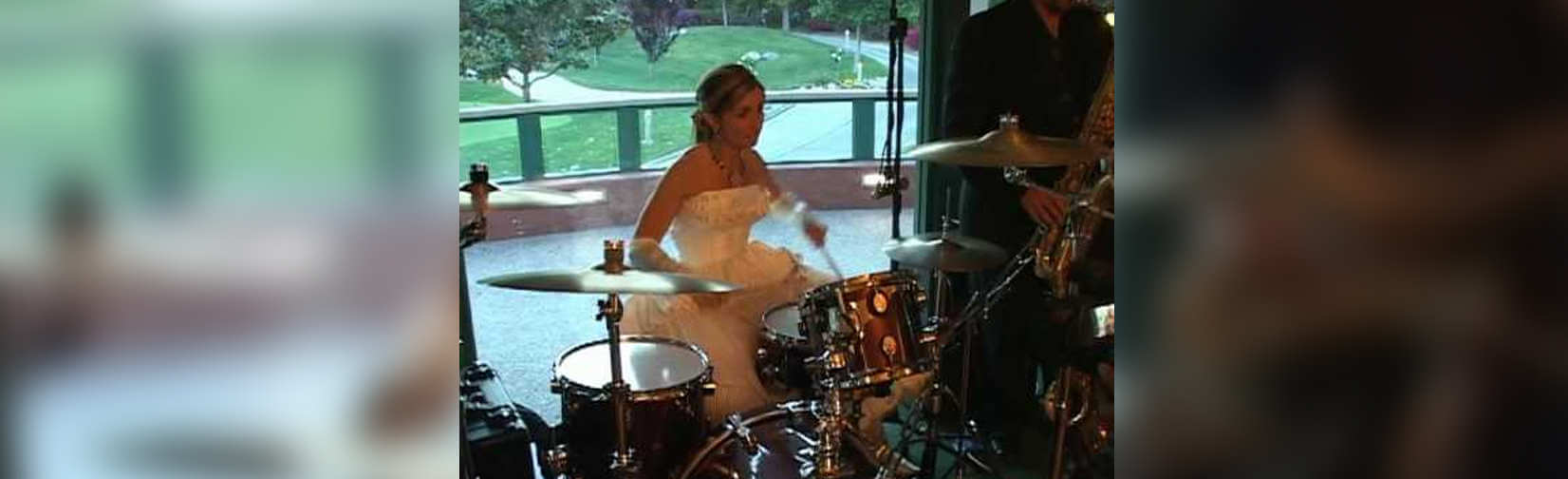 Watch This Bride Rip on a Drum Solo in Her Wedding Gown