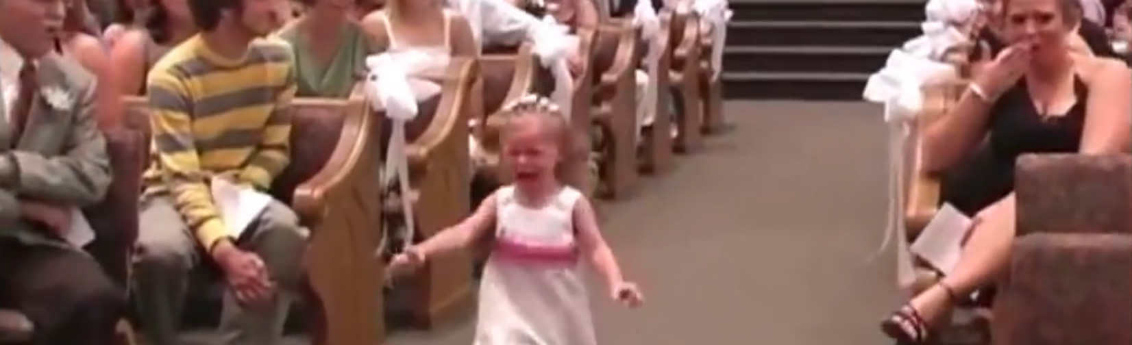 Hilarious clips of children at weddings sometimes it never goes as planned