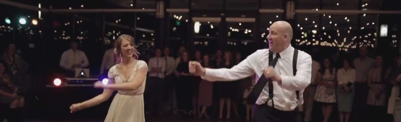 Dad outdances his own daughter at her wedding