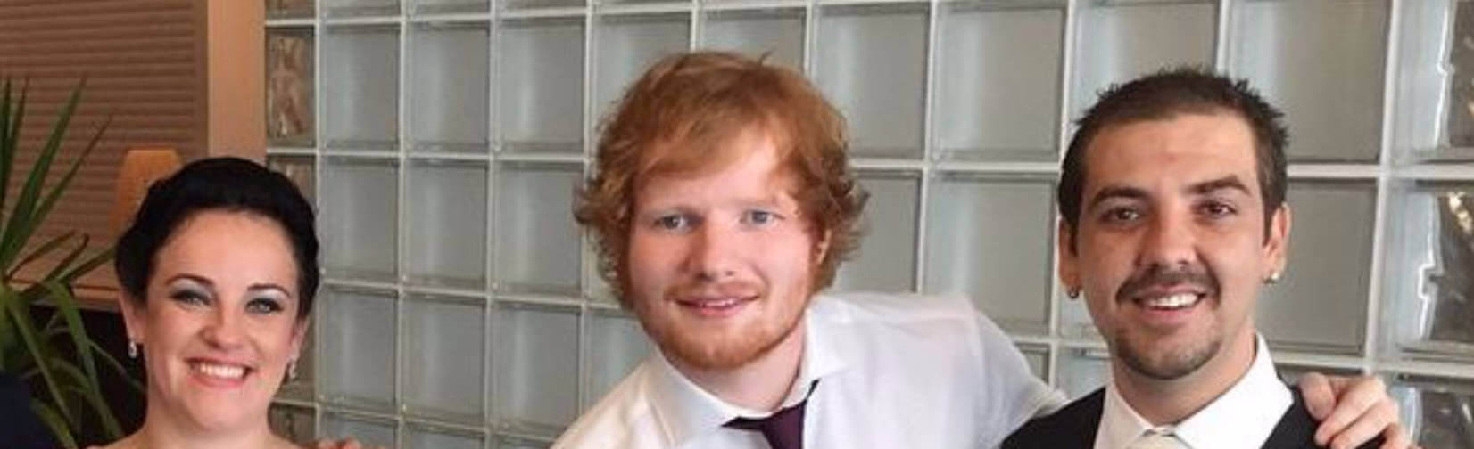 Ed Sheeran Sings at Wedding