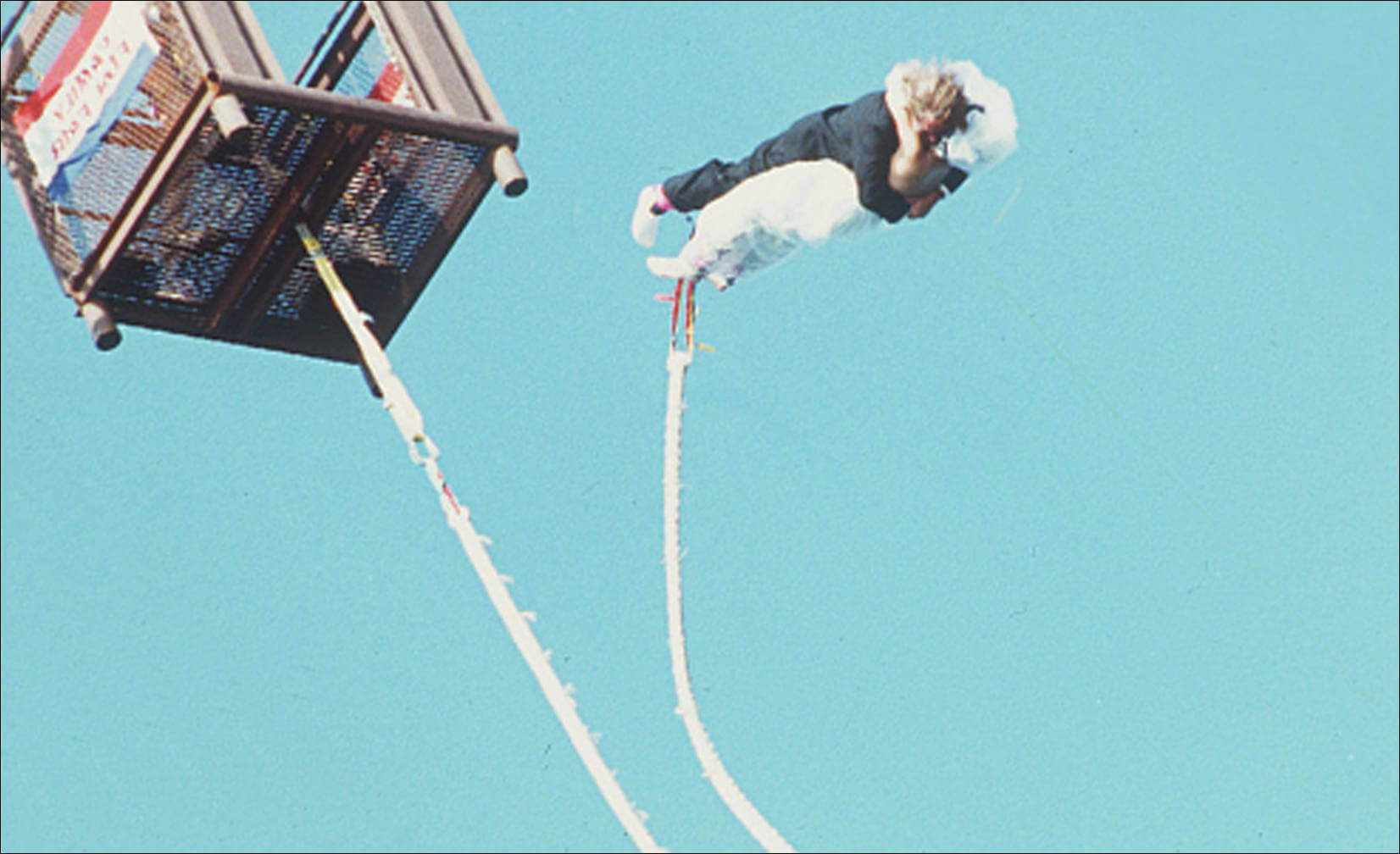 bungee jump together in Atlantic City, N.J after tying the knot