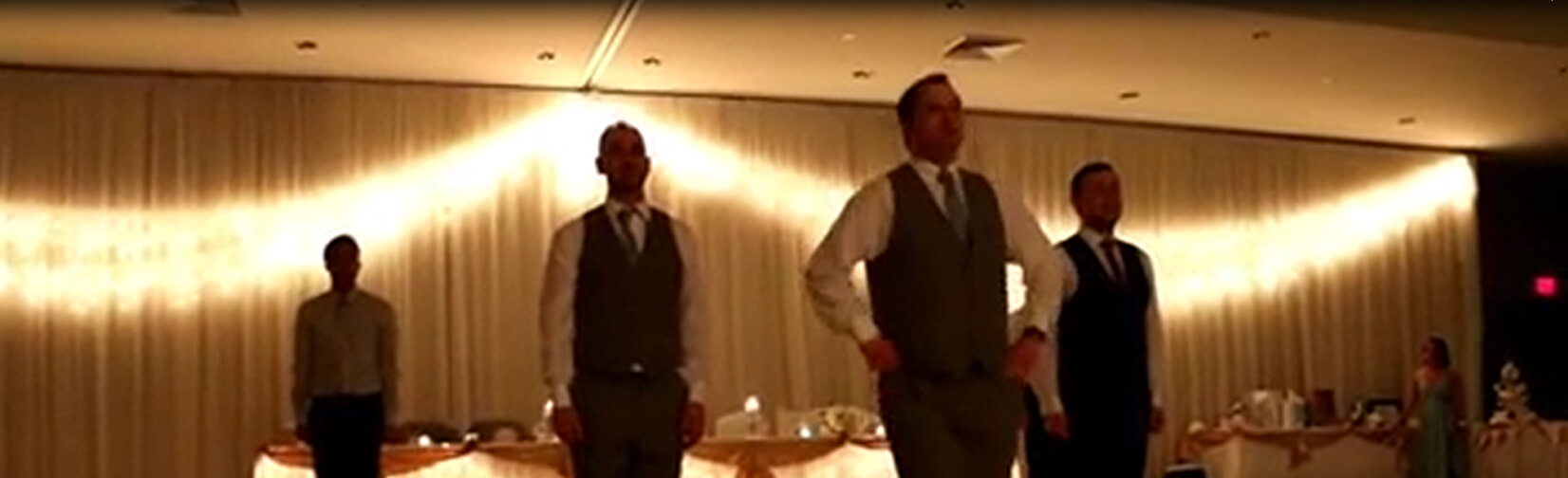 Groom and Groomsmen CLEAR the Wedding Dance Floor