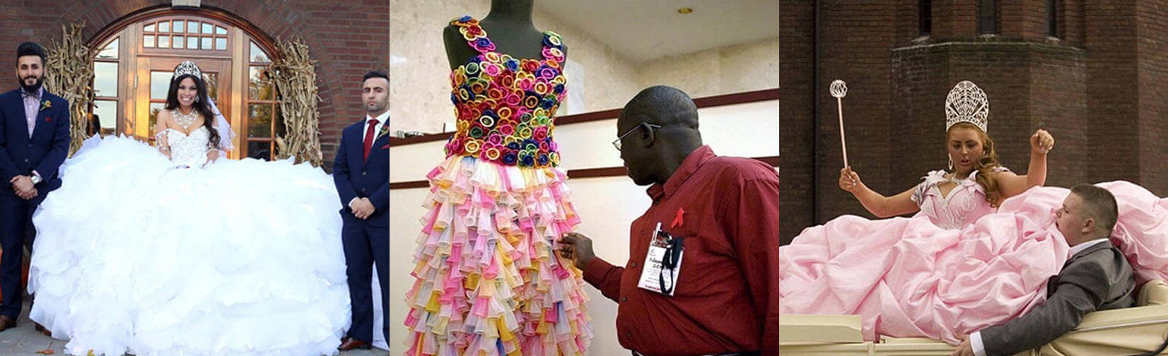 Strange and ridiculous wedding dresses