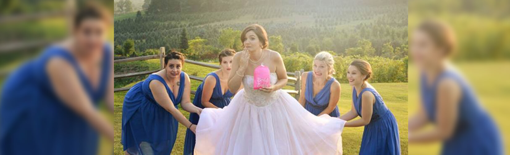 Bridal Buddy allows brides to bag up their dresses so they can use the bathroom