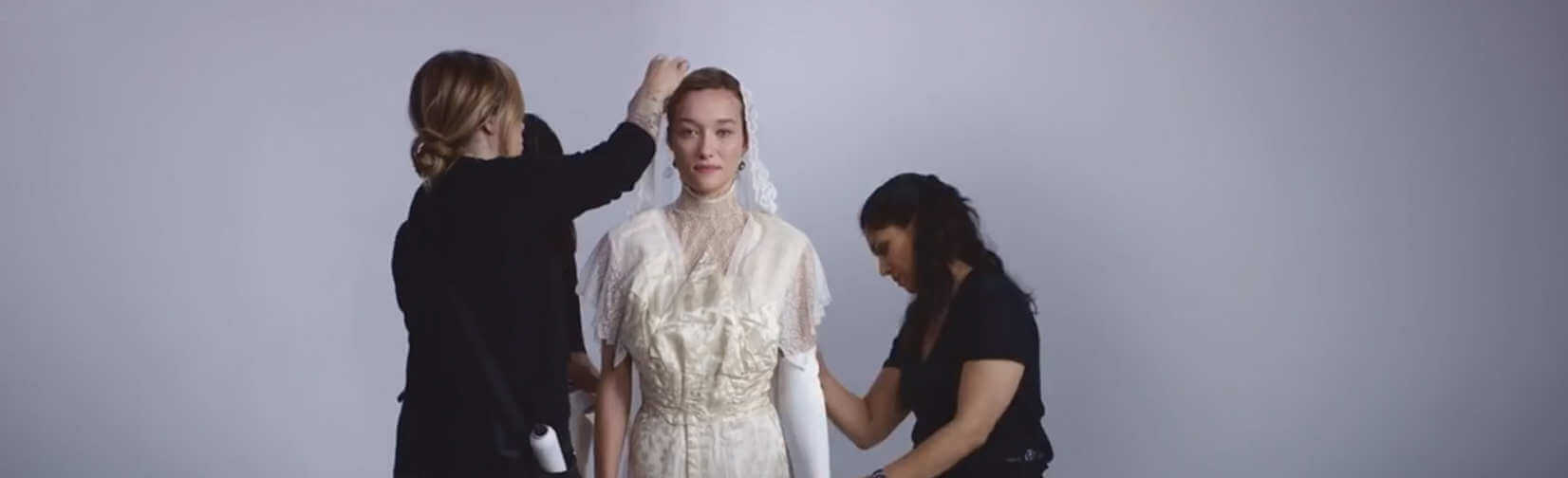 See 100 Years of Wedding Dresses in 3 Minutes