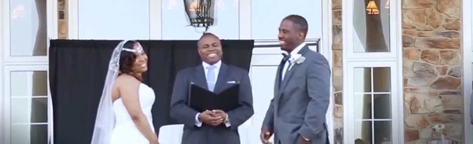 Groom performs his Wedding VOWS as a RAP